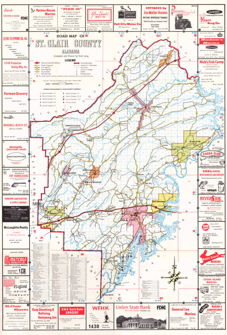 Road map of St. Clair County, Alabama - Maps Project ...