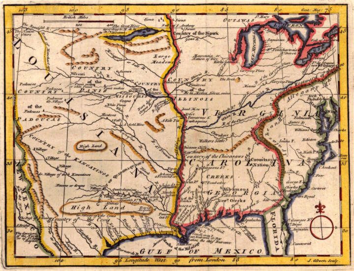 Map Of Louisiana Virginia Carolina Georgia And Florida Maps