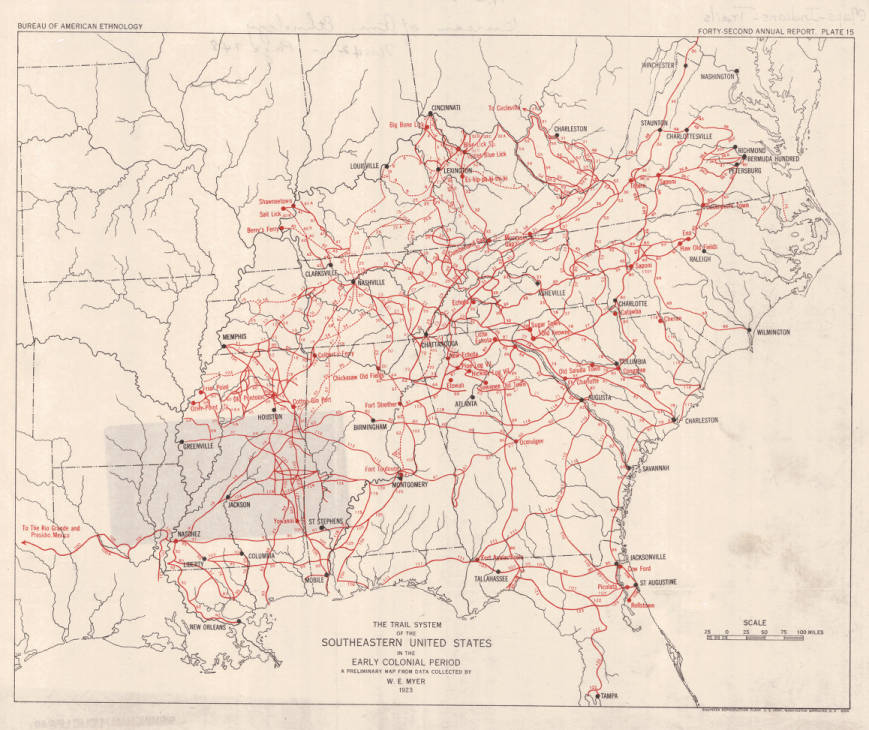 The trail system of the southeastern United States in the early ...