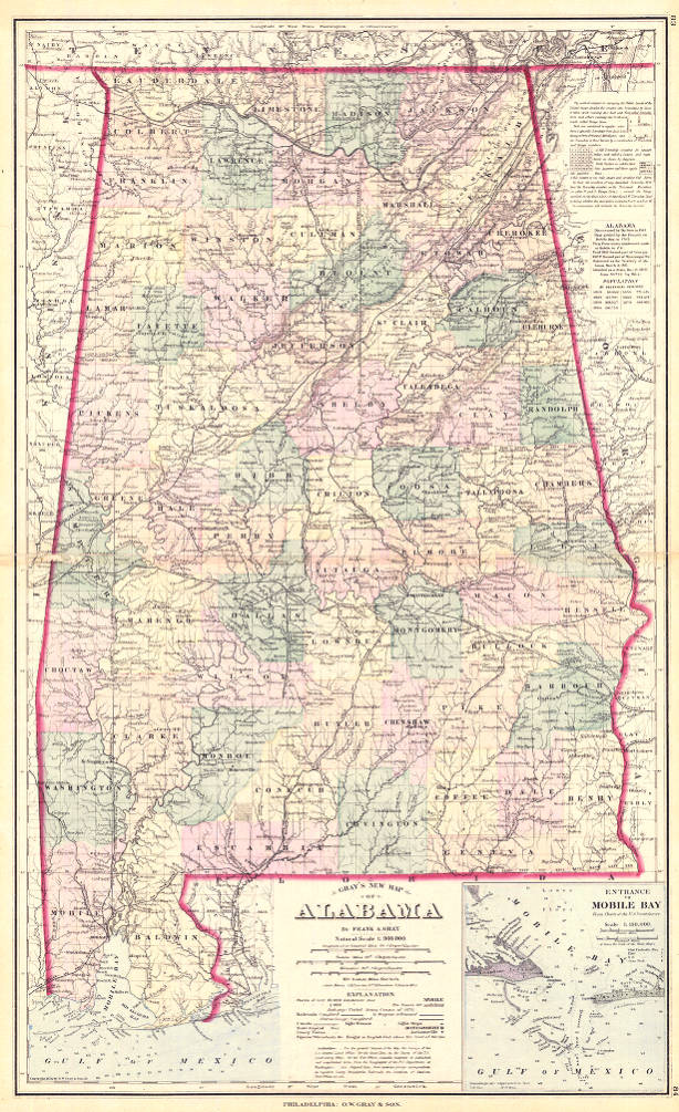 Gray's New Map of Alabama - Cartography Collection ... on map of delaware, selma alabama, map of new york, phenix city alabama, map of texas, clanton alabama, map of hawaii, talladega alabama, map of italy, decatur alabama, map of maine, map of oklahoma, military bases in alabama, road map alabama, map of georgia, map of michigan, map of ohio, map of arizona, arab alabama, cuba alabama, map of china, maycomb alabama, warrior alabama, map of florida, map of california, southern alabama, map mississippi, map of illinois, cities in alabama, troy alabama, map of alaska, map of virginia, things to do in alabama, map of north carolina, hoover alabama, athens alabama, jefferson county alabama, map of wisconsin, jasper alabama, map of new jersey,