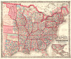 Colton's New railroad & county map of the United States the Canadas &c