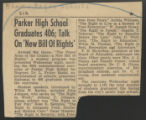 Parker High School graduates 406 talk on new bill of rights