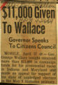 11000 given to Wallace