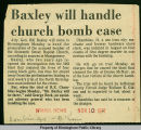 Baxley will handle church bomb case